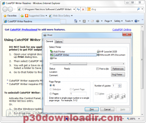 CutePDF Pro 3.71 Activation and Serial Key Free Download